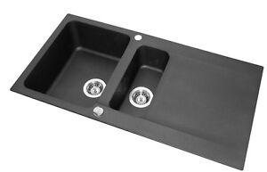 FRANKE OID 651 1.5 Bowl Tectonite Black Kitchen Sink Pop-Up ...