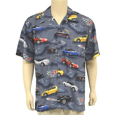 Casual Button Front 2005-2013 David Carey Men/'s Camp Shirt Corvette C-6