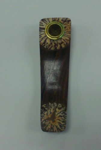 """STRIPED WOOD SMOKING TOBACCO PIPE 3.5/"""" HAND CRAFTED WOODEN SMOKING HAND PIPE 4A"""