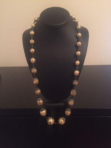 Miriam Haskell 1950's Pearl Necklace