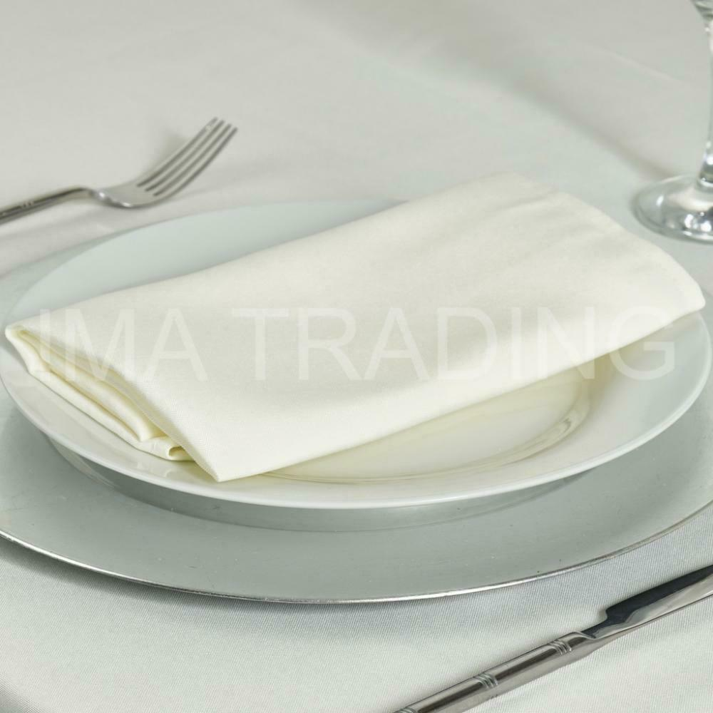 IVORY TABLECLOTH 230cm x 330cm, 90  x 130  Inch, 220GSM POLYESTER TABLE CLOTH