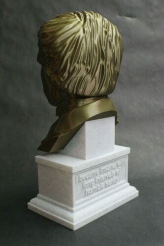 Edgar Allan Poe 3D Printed Bust Famous American Poet and Writer Art FREE SHIP