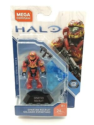 FVK23 NEW In Box Mega Construx Halo Heroes Series 8 SPARTAN RECRUIT 24 pcs