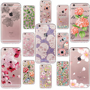 Funda-Carcasa-Clear-Pattern-Soft-TPU-Case-Cover-For-iPhone-4s-5s-6s-7-PLUS-SE-5c