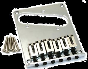 CHROME Genuine Fender American Standard Series 6-Saddle Tele Telecaster Bridge