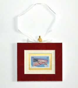 Honoring-Veterans-Hand-Crafted-Velvet-Framed-USA-Stamp-Christmas-Tree-Ornament