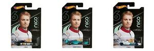 Hot-Wheels-GGC34-Nico-Rosberg-coches-de-fundicion-F1-formula-escala-1-64-Set-3