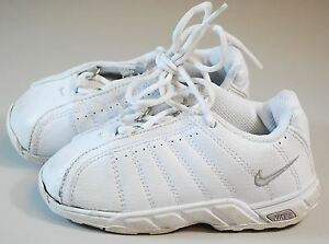 Image is loading NIKE-ALL-WHITE-PLATINUM-BABY-SNEAKERS-SHOES-SIZE-