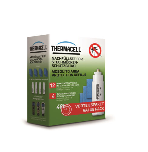 Thermacell Recharge 48 H r-4//4x BUTANGAS Cartouche 12x Plaquettes Substance active