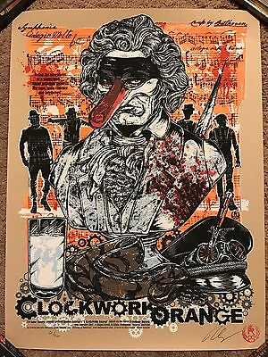 Rhys Cooper Signed Clockwork Orange Print Movie Poster Mondo Stanley Kubrick