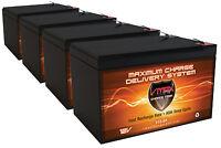Qty 4 X-treme Xb-500 Comp. Vmax64 Agm Vrla 12v 15ah Ea Scooter Battery