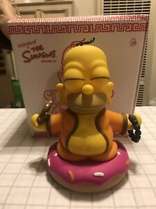 Kid-Robot-Simpsons-Buddha-Homer-Simpson-Pink-Sprinkled-Donut-VERY-RARE-Limited-7