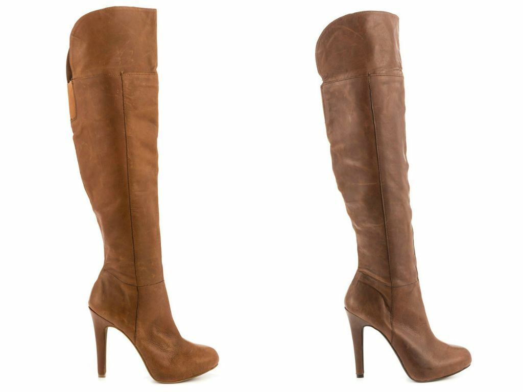 New Jessica Simpson Audrey Brown Chocoholic Burnt Umber Leather Tall Boots  210