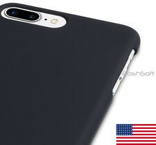 for Apple iPhone 7 PLUS Black Matte Rubberized Hard Cover Case Shell - US S
