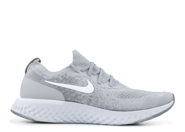on sale b835c a6589 Nike Epic React Flyknit Wolf Grey Aq0067-002 Size 8 for sale online ...