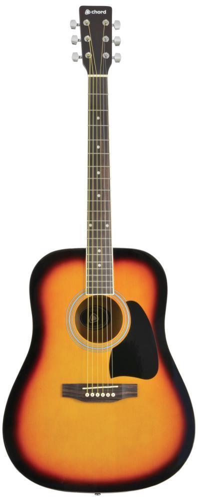 Chord 174.474 CW26-SB Western Style Steel Strung Acoustic Guitar Sunburst Gloss