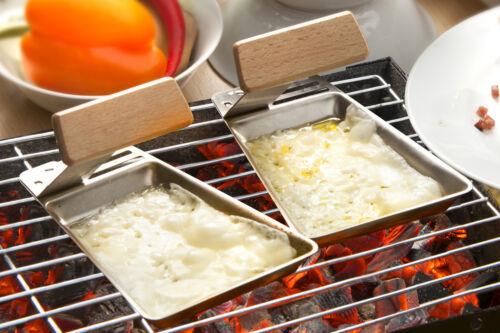 2er set en acier inoxydable Grill poêle GUSTICO amovible poignée barbecue foyer de BBQ accessoires