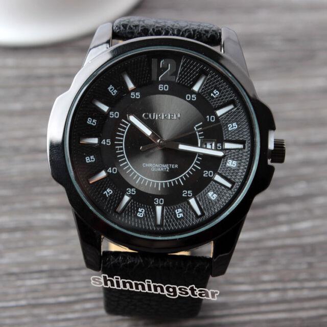 CURREN Quartz Watches Leather Belt Wristwatch Business Casual Sport Male Watches