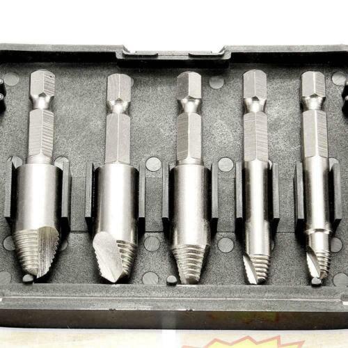 5pcs 1//4 Inch 6.35mm Schnellarbeitsstahl-Schraubenauszieher