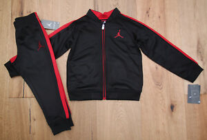 3907ca3014734b Air Jordan Toddler Boy 2 Piece Jogging Set ~ Black   Red ~ Jumpman ~  Tracksuit