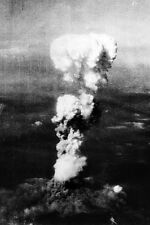 New 5x7 World War II Photo: Atomic Cloud over Hiroshima Japan after Bombing