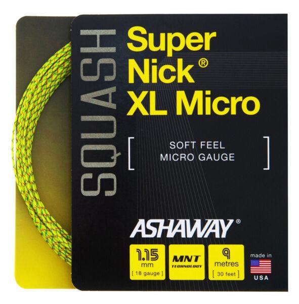 Ashaway Supernick Xl Micro 18 1.15mm Set Corde Squash Diversificato Nell'Imballaggio