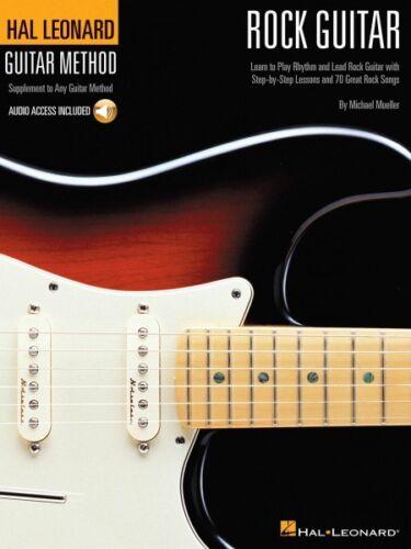 Guitar Method Book and Audio NEW 000697319 Hal Leonard Rock Guitar Method