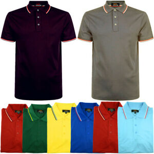 Men-039-s-Polo-Shirt-Golf-Sports-Cotton-T-Shirt-Jersey-Casual-Striped-Short-Sleeve