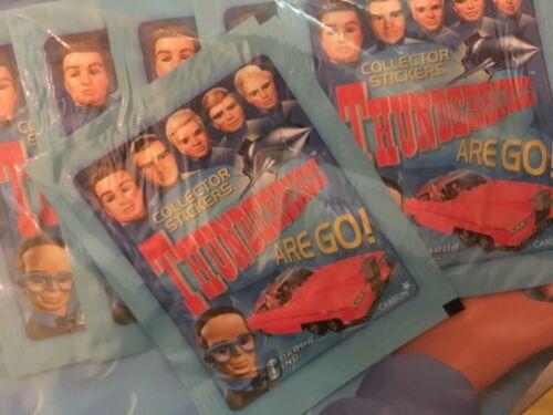 42 au total Vintage THUNDERBIRDS ARE GO 7 packs de 6 autocollants STICKERS Pack