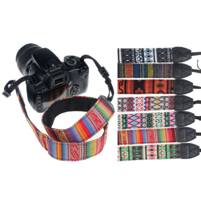 Durable Cotton+Nylon camera shoulder-neck band for SLR DSLR Nikon Canon Sony