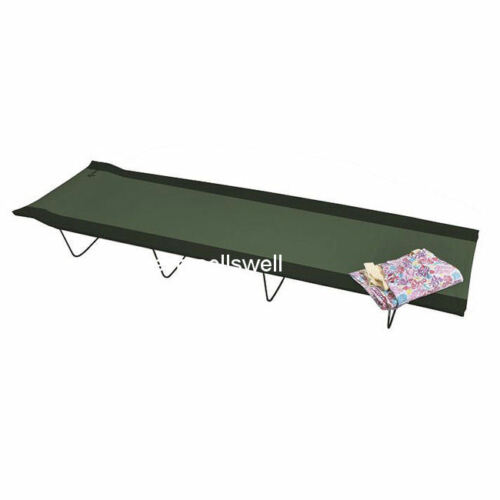 Slumber FOLDING CAMP BED spare guest camping ARMY fold single packaway fold away