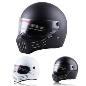 DOT-Motorcycle-Helmet-Full-Face-w-Sun-Visor-Motocross-Racing-Cruiser-Bike-Helmet