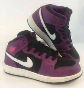 superior quality c9a9b 0076c Image is loading Nike-Air-Jordan-1-Purple-Black-Pink-Retro-