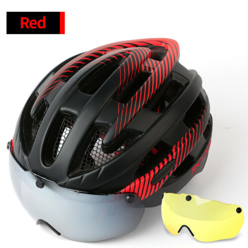 Ultralight Bicycle Helmet Adjustable Bike Cycling Helmets with Lens /& Tail light