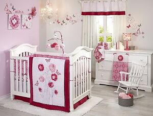 25e81560213 NoJo Butterfly Bouquet 4 Piece Crib Bedding Set Newborn Baby Girl ...