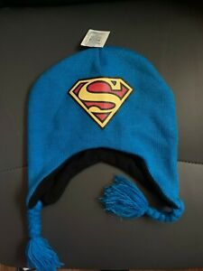 New With Tags NWT Superman Peruvian Beanie Laplander Hat
