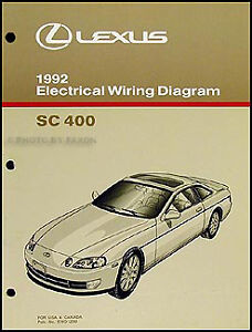 lexus ac wiring diagrams 1992 lexus sc 400 electrical wiring diagram manual ... #7