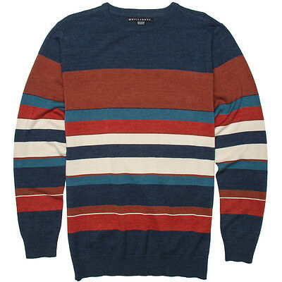 Billabong Swoop Indigo Heather Sweater Knit Long Sleeve Shirt Sz Large