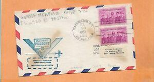 Primer Vuelo Capitol Aerolíneas Viscount Washington Dc Julio 26,1955 DCA7