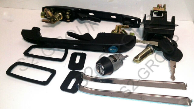 VW GOLF II MK2 83-92 SET LOCKSET DOOR HANDLE TAILGATE BARREL LOCK IGNITION