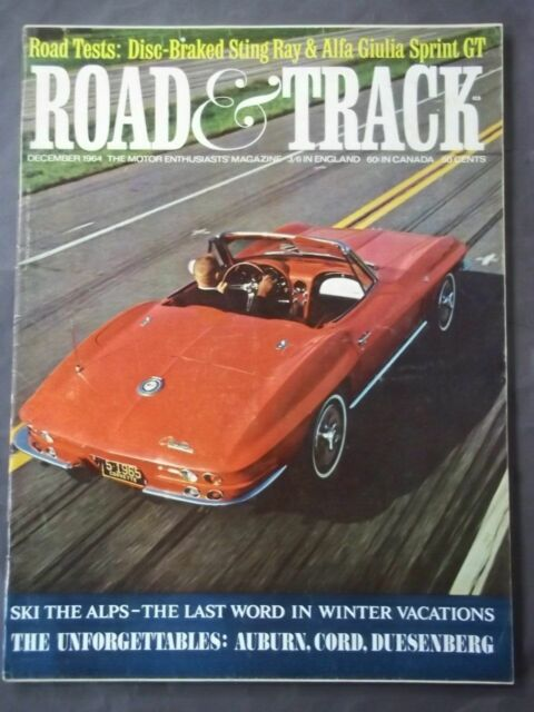 Vintage Road & Track Magazine - December 1964 The Unforgettables : Auburn Cord