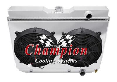1978-1987 Chevy El Camino All Aluminum 3 Row KR Champion Radiator Fan Combo