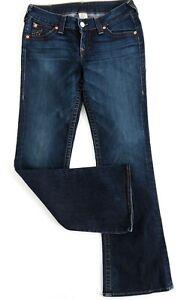 TRUE-RELIGION-Womens-RACHEL-Jeans-Size-32-Mid-Rise-Bootcut-RRP-290-EUC