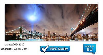 100% Vero Quadro Moderno In Su Vetro Temperato Cm 125x50 Stampa Digitale Design Arte Casa Gamma Completa Di Articoli
