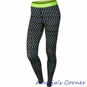 c25c4439ad Women's Nike Pro Core Bolt Print Compression Tights 684665-010 Size ...