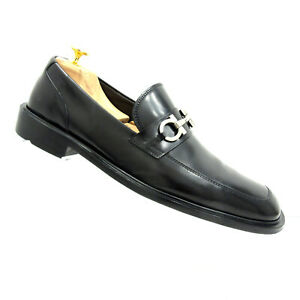 Salvatore-Ferragamo-Men-9D-Lampo-Nero-Black-Calf-Leather-Horsebit-Loafer-355