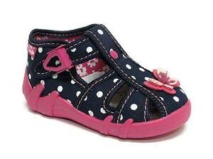 Bebé Niño Chicas De Lona Zapatos Sandalias Niños-Arco Rosado (UK 8/EU 25)