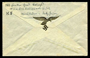 WW2-WWII-Germany-3rd-Reich-Cover-Hitler-Luftwaffe-Feldpost-RARE-GOLD-VIGNETTE