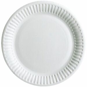 1000-White-Disposable-Paper-Plates-6-034-7-039-039-9-034-perfect-for-BBQ-parties-Outdoor
