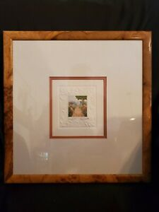 Stephen Whittle Pencil Signed Embossed Color Etching Stately Garden